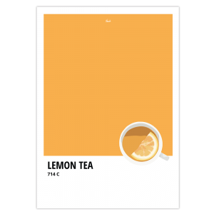 Affiche inspiration Pantone orange thé au citron